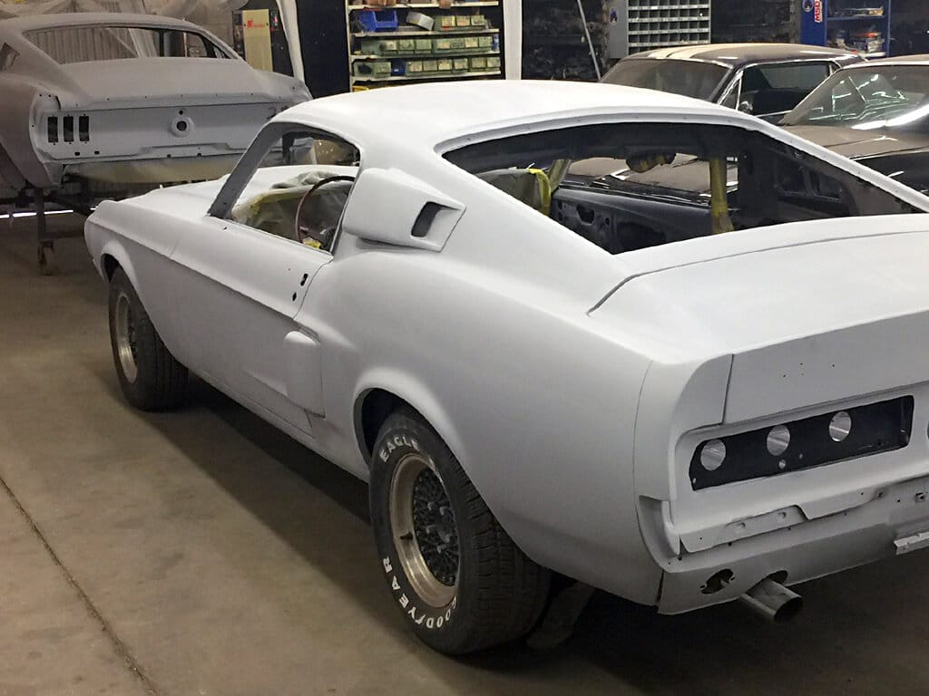 Mustangs Prepped for Painting